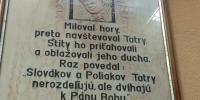 pamätný text z výstavy osobných vecí  sv. Jána Pavla II. v rodnom dome vo Wadoviciach