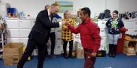 Pán župan ako vždy s priateľským gestom, slovom, povzbudením a uznaním našej práce.