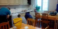umývanie kuchynskej linky
