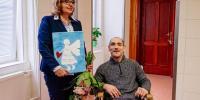 Karolko z vďaky namaľoval Márii obraz anjela