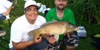 prvá ulovená ryba - kapor 5,6 kg